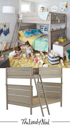 Our Wrightwood Bunk Bed features two full beds, making it perfect for any shared kids bedroom.
