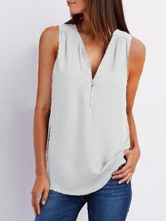 Black White Pink, Purple Grey, Fashion Colours, Cotton Style, Short, Sleeveless Blouse, Casual, Fashion Online, Chiffon