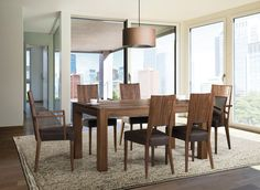The T65 table and comfortable chairs from Klose - perfectly combine functionality with design. #DinningRoomFurniture #KloseFurniture #tablesets