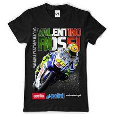 Valentino Rossi vlag motor mannen T-Shirt (SB087)