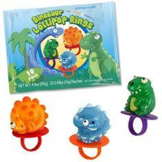 Dinosaur Lollipop Rings (10 Pack)