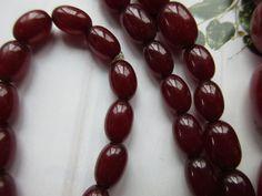 Deco Cherry Amber Bakelite Necklace