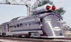The New York Central M-497 Black Beetle was an experimental jet-powered locomotive developed and tested in 1966. Two GE J47-19 jet engines were mounted on an existing Budd Rail Diesel Car with a streamlined front cowling. Test runs were held over the existing tracks between Butler Indiana and Stryker Ohio. The car reached a speed of 183.68 mph, still the light-rail speed record for the United States. The project was not considered viable.  After jet removal the car returned to normal…