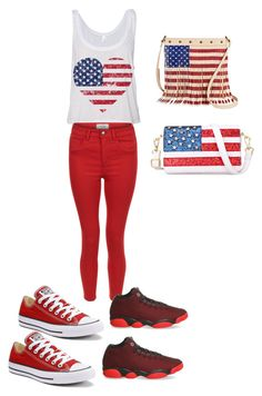 """4th of july"" by lailaj234 ❤ liked on Polyvore featuring New Look, Converse, NIKE, TWIG & ARROW and Chicnova Fashion"