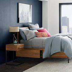 Nash C-Base Nightstand - Teak | west elm