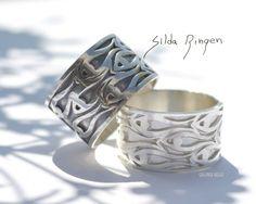 """From my signature jewelry sereia """"Herring"""" Here are """"Herring ring"""", """"Silda Ringen"""" Silver ring handmade by Helga Markhus, Norway gullsmedhelga.com #gullsmedhelga"""