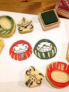 Custom Daruma stamps