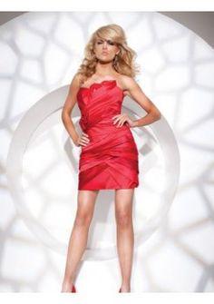 Corsage asymétrique plissée avec de courtes robes de cocktail pas cher
