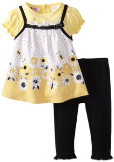 Amazon.com: Young Hearts Baby-girls Newborn 2 Piece Knit Dress and Leggings Set: Clothing