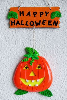 Halloween Pumpkin Door / Wall Decor $7 #etsy #halloween #pumpkin