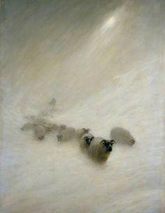 The Stormy Blast c.1898 by Joseph Farquharson (Scottish 1846-1935)