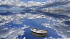 Boat in the clouds (1920x1080, clouds)  via www.allwallpaper.in