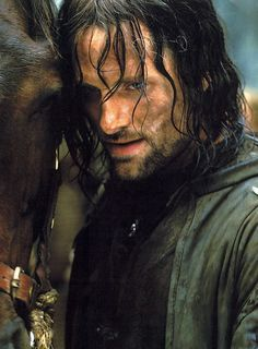 """Viggo Mortensen as Aragorn in Lord of the Rings trilogy"" omg and his love for animals just makes me... love him even more..."