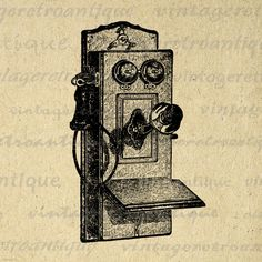 Antique Telephone Digital Printable Image Old Phone Graphic Illustration Download. Printable high quality digital image graphic from antique artwork. This high resolution digital illustration can be used for making prints, iron on transfers, tote bags, t-shirts, tea towels, pillows, and many other uses. Great for use on etsy items. This digital image is high quality, high resolution at 8½ x 11 inches. Transparent background version included with every graphic.