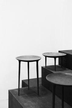 Rick Owen's brass tables