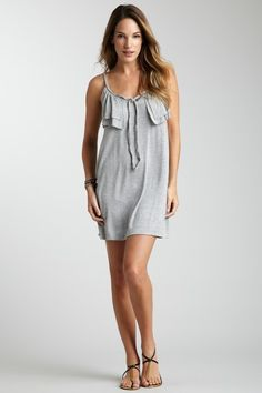 Cute T-shirt dress. Little to short for me. Braided tie at neck.  Ruffle at the top goes around the back, also. (From Olive & Oak)