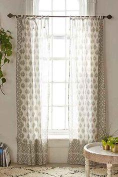 Plum and Bow Elysia Foil Ivory Window Curtain