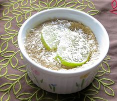 Coconut Lime Pudding (Dairy Free, Refined Sugar Free & Vegan)