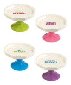 This Cupcake Pedestal Plate Set by Grasslands Road is perfect! #zulilyfinds