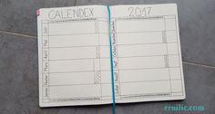 Bullet Journal : le Calendex | Ernilie