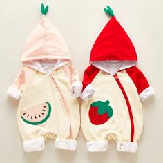 Watermelon Shoes, Cute Baby Clothes, Baby Design, Peach Colors, Color Blocking, Cute Babies, Hoods, Onesies, Rompers