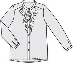 Блузка прямого кроя - выкройка № 107 из журнала 2/2016 Burda – выкройки блузок на Burdastyle.ru