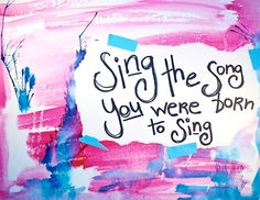 There are songs that were born for me to sing. I'm so happy and feel so lucky. :P