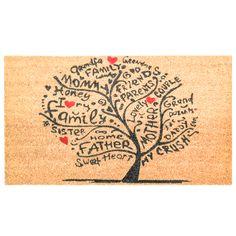 Felpudo con el árbol de la vida con lo más importante que tenemos... Porches, Fibre, Dots, Afin, Decor, Google, Products, Original Quotes, Original Gifts
