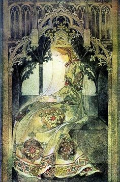 Contemplative Princess ~ Sulamith Wulfing (1901-1989) by tracey