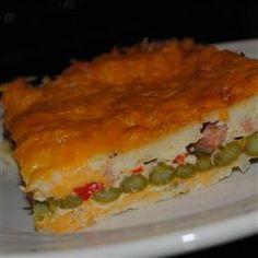 Cheddar-Bacon-Asparagus Strata Allrecipes.com