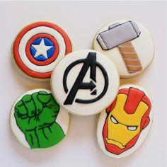 "Sweet Pea Cookie Co. on Instagram: ""#Avengers cookies for the #superhero fan in…"