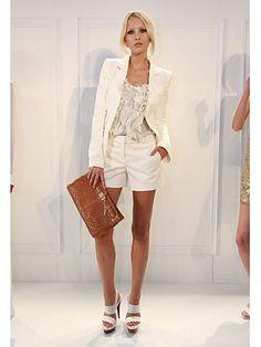 Rachel Zoe Spring 2012 - New York Fashion Week - Die Mode der warmen Saison . Date Outfits, Brigitte Bardot, Smoking Tuxedo, Shopping New York, White Fashion, Look Fashion, New York Fashion, Rachel Zoe Collection, New Yorker Mode