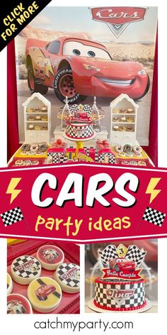 Check out this awesome Disney Cars-themed birthday party! The cake is so much fun! See more party ideas and share yours at CatchMyparty.com #catchmyparty #partyideas #cars #carsparty #disneycars #disneycarsparty #boybirthdayparty Disney Cars Party, Disney Cars Birthday, Car Birthday, Prince Birthday Party, Cars Birthday Parties, Farm Themed Party, Party Themes For Boys, Radiator Springs, Movie Cars