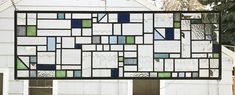 Hanging Stained Glass, Stained Glass Panels, Living Room Windows, Four Corners, Glass Texture, Window Panels, Craftsman, Condo, New Homes