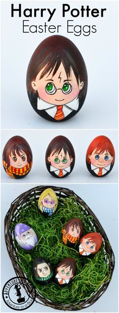 Celebrate Easter with a set of Harry Potter Easter Eggs! A quirky craft for Harry Potter fans. Have you seen that egg-shaped Snape? Easter Art, Bunny Crafts, Easter Crafts For Kids, Easter Ideas, Easter Decor, Harry Potter Cosplay, Harry Potter Diy, Harry Potter Easter Eggs, Ostergeschenk Diy
