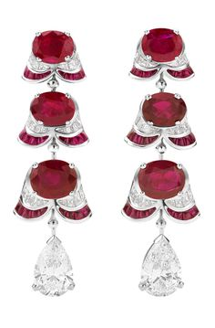 Ruby earrings.