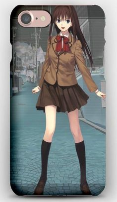 iPhone 7 Case Mahoutsukai no yoru, Girl, Brunette, Skirt, Smile, Street
