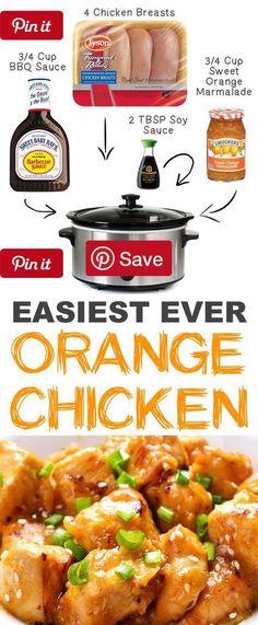 https://paleo-diet-menu.blogspot.com/ #PaleoDiet 12 Mind-Blowing Ways To Cook Meat In Your Crockpot - #3. Easy Crockpot Orange Chicken | 12 Mind-Blowing Ways To Cook Meat In Your Crockpot