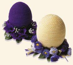 Украшение пасхальных яиц шнуром - простой и доступный декор главного символа праздника Пасхи. С рабо