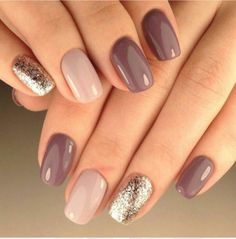 30 trendy glitter nail art design ideas for With glitter nails, brighten u. 30 trendy glitter nail art design ideas for With glitter nails, brighten up your summer looks. Manicure Nail Designs, Nail Manicure, Nail Polishes, Shellac Nails Fall, Shellac Pedicure, Plum Nails, Gel Manicures, Opi Gel Nails, Mani Pedi