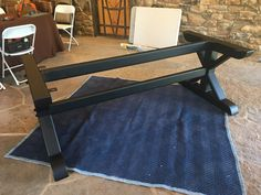 Metal base for a table. Powdered coated. steel base, steel table legs