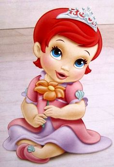 Ariel [as a baby] (Drawing by Disney) #TheLittleMermaid