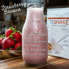 Our Strawberry Banana recipe is by far one of the most popular recipes -- and there's a very good reason for that. It's delicious and the ingredients are simple. If you have blended one up yet, it's time! #Recipe #Protein #MealReplacement #WeightLoss #GetFit #FitLife #310Shake