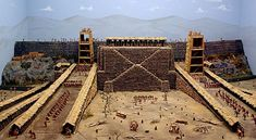 a model of Siege towers at Avaricum where they were key to Julius Caesar's victory