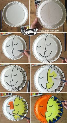 Sun and Moon plate craft