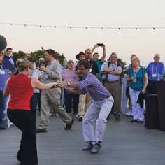 When in the Lowcountry...learn the classic South Carolina dance, the shag. This corporate group incorporated beachfront dance lessons into their conference schedule, showing off their moves on the Grand Pavilion at Wild Dunes Resort. Photo by WDR Conference Service Manager Jillian Thompson. #meetinthewild #charlestonsc www.wilddunesmeetings.com