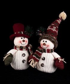 Another great find on #zulily! Fabric Snowman & Scarf Décor - Set of Two #zulilyfinds