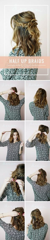 Half Up Braids Tutorial, dutch braid tutorial, hairstyle tutorial