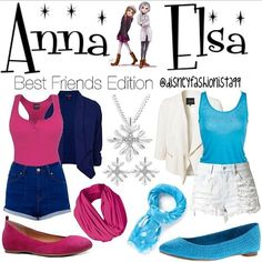 Mia is the one on the left not only because im elsa and shes anna but that is our tyoe of style too im blue shes pink
