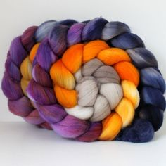 Merino Wool Roving Hand Painted Hand Dyed for by SpunRightRound